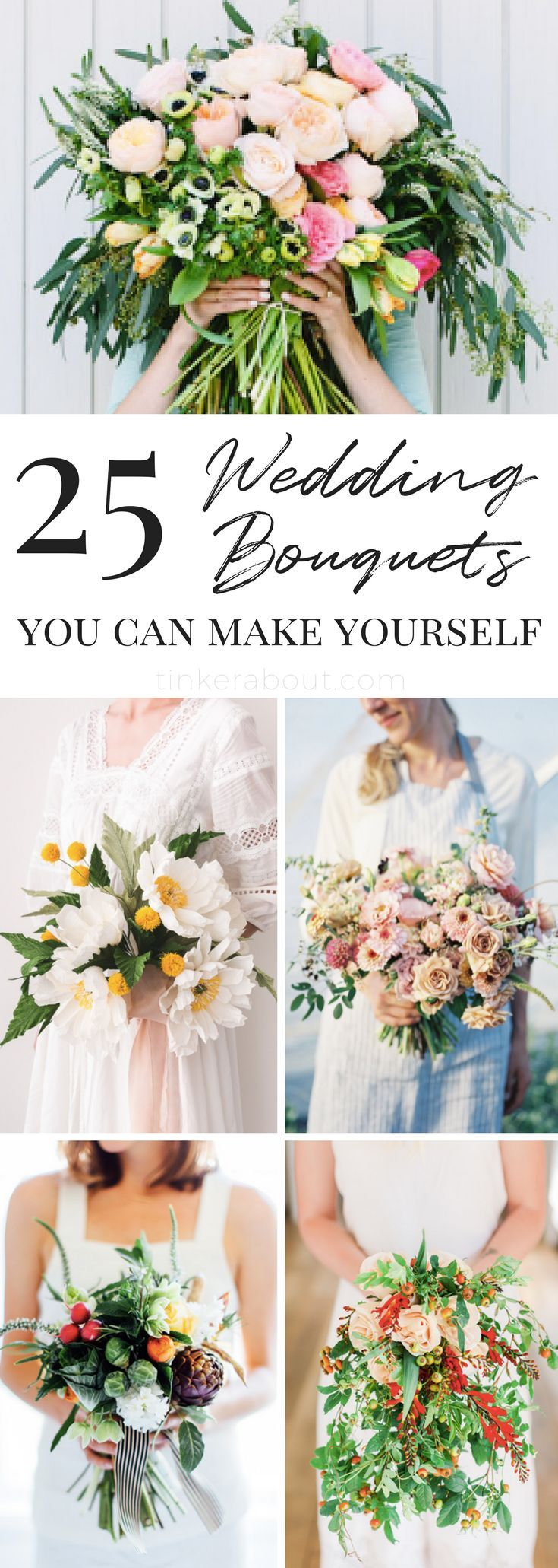 Wedding decorations to make yourself   BudgetFriendly DIY Wedding Bouquets with Tutorials  Diy wedding