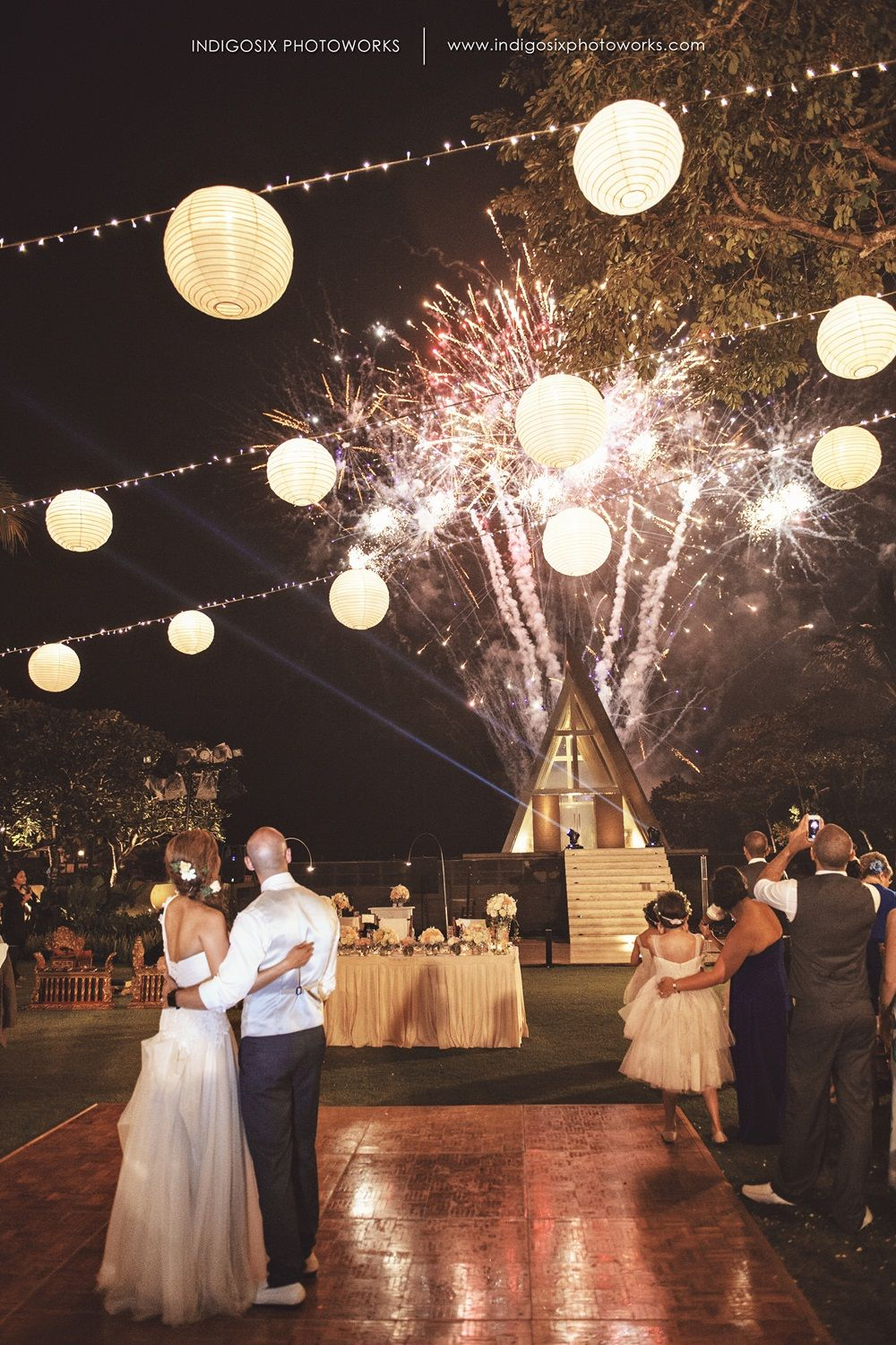 Bali wedding venues on the beach  Beige tulle dresses and little hand bouquets are the essence of
