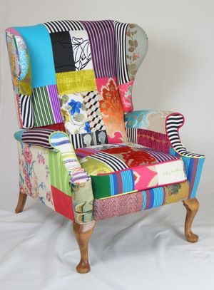 Kelly Swallow Patchwork Armchair | Funky chairs, Chairs ...