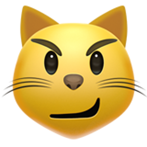 cat face with wry smile Cara de gato, Emojis, Alfabeto