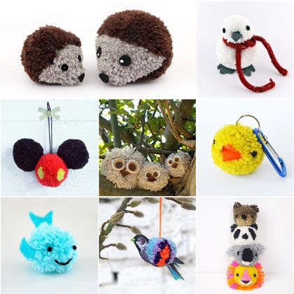All a round cute 12 pom pom animal crafts spoonful for Cute pom pom crafts