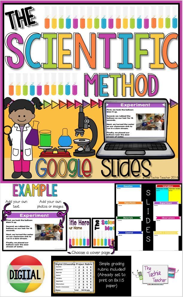 The Scientific Method in Google Slides™ Pinterest Scientific - science project report