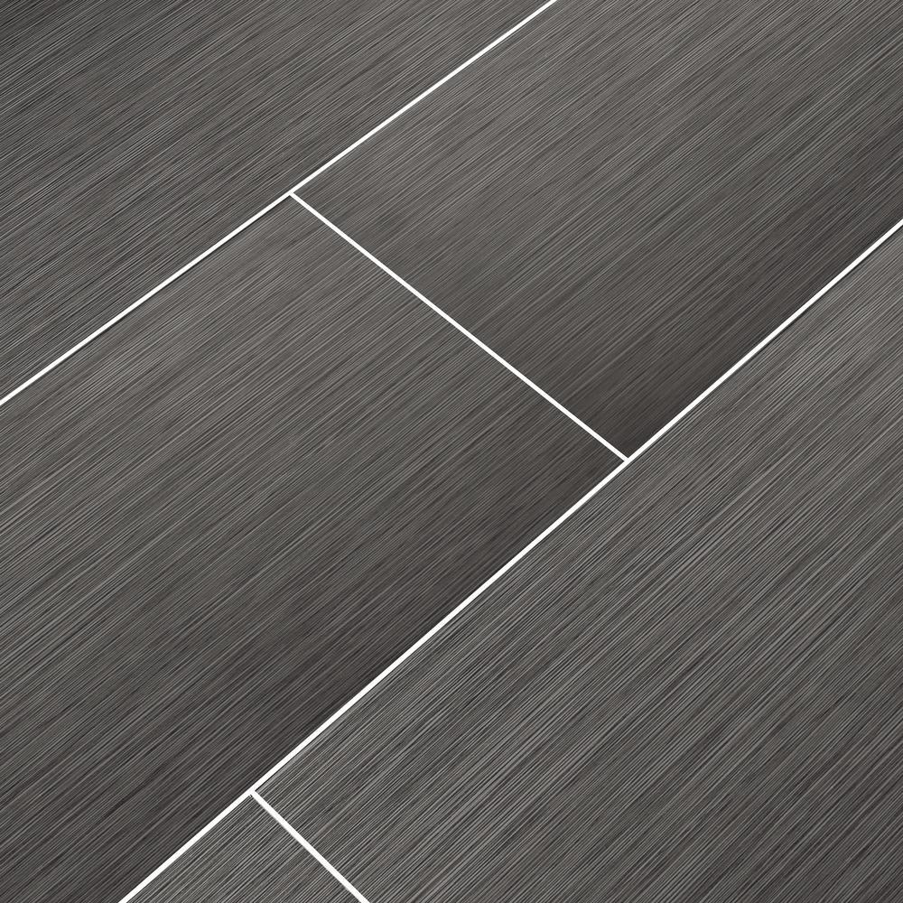 Atrium Kios Gris Glazed Porcelain Floor Tile: MSI Metro Gris 12 In. X 24 In. Glazed Porcelain Floor And