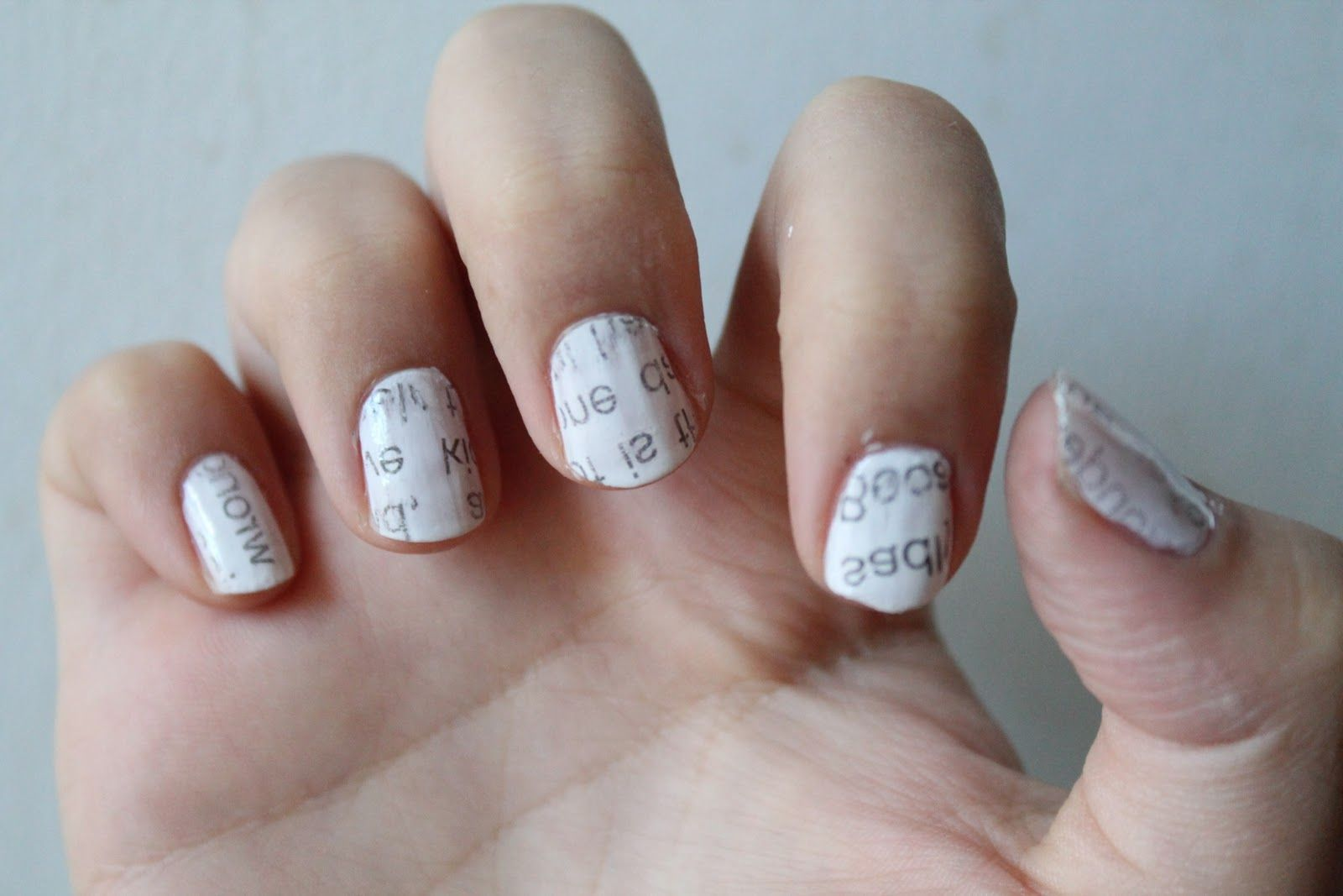 newspaper nails! super cute and really easy to do yourself! | Face ...