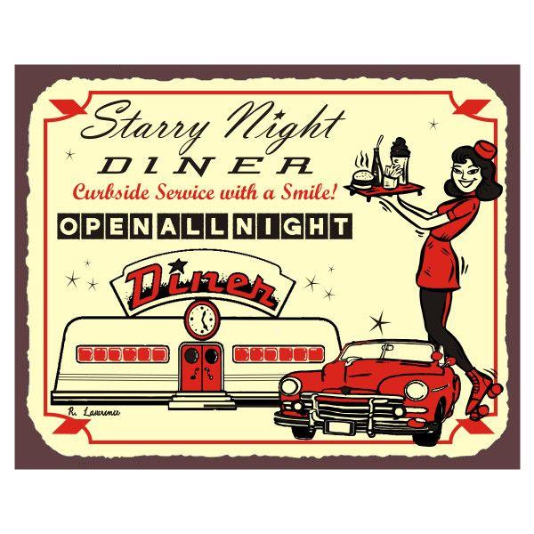 Diner Signs Retro Vintage Wall Decor, Restaurant Art