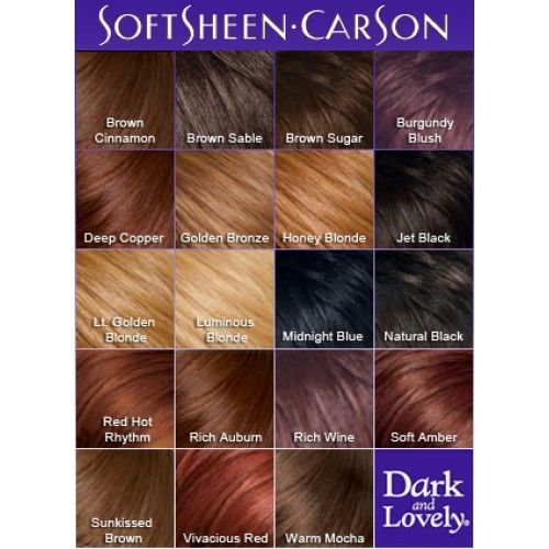 Dark And Lovely Color Chart Hair Dye Colors Hair Color Chart