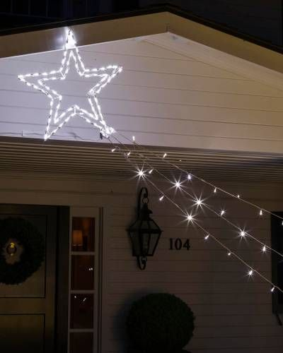 outdoor led double shooting star main - Shooting Star Christmas Lights Outdoor