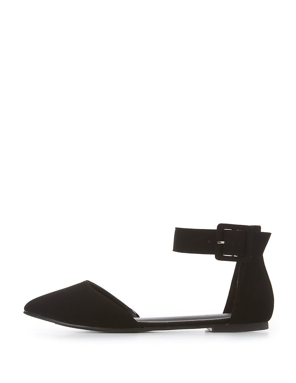efd0c4a12606 Charlotte Russe Shoes Black Pointed Toe Flats Color Black Size