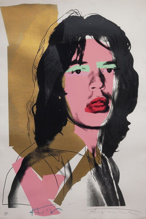 Andy Warhol fue un artista del movimiento pop art. Este es es el retrato de Mick Jagger.