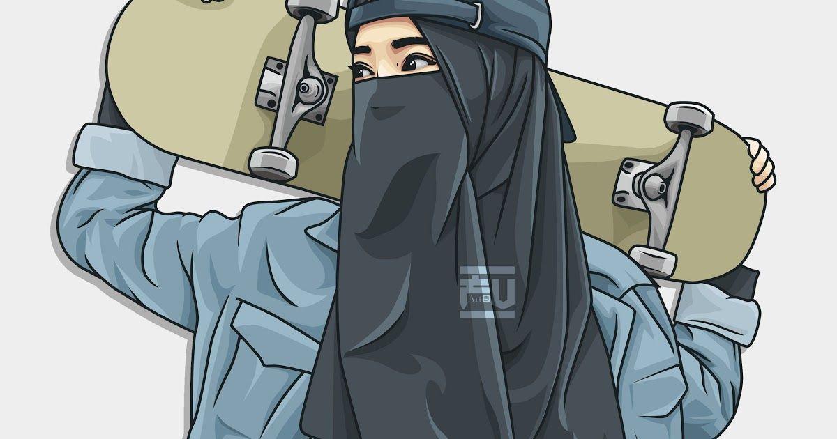 Gambar Kartun Muslimah Gambar Couple Anime Pisah Romantis ...