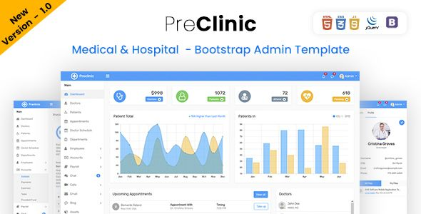 Preclinic Medical Hospital Bootstrap 4 Admin Template