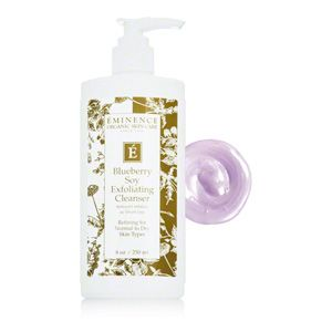 Eminence Blueberry Soy Exfoliating Cleanser.  Buy Online and Save!  Free Shipping.
