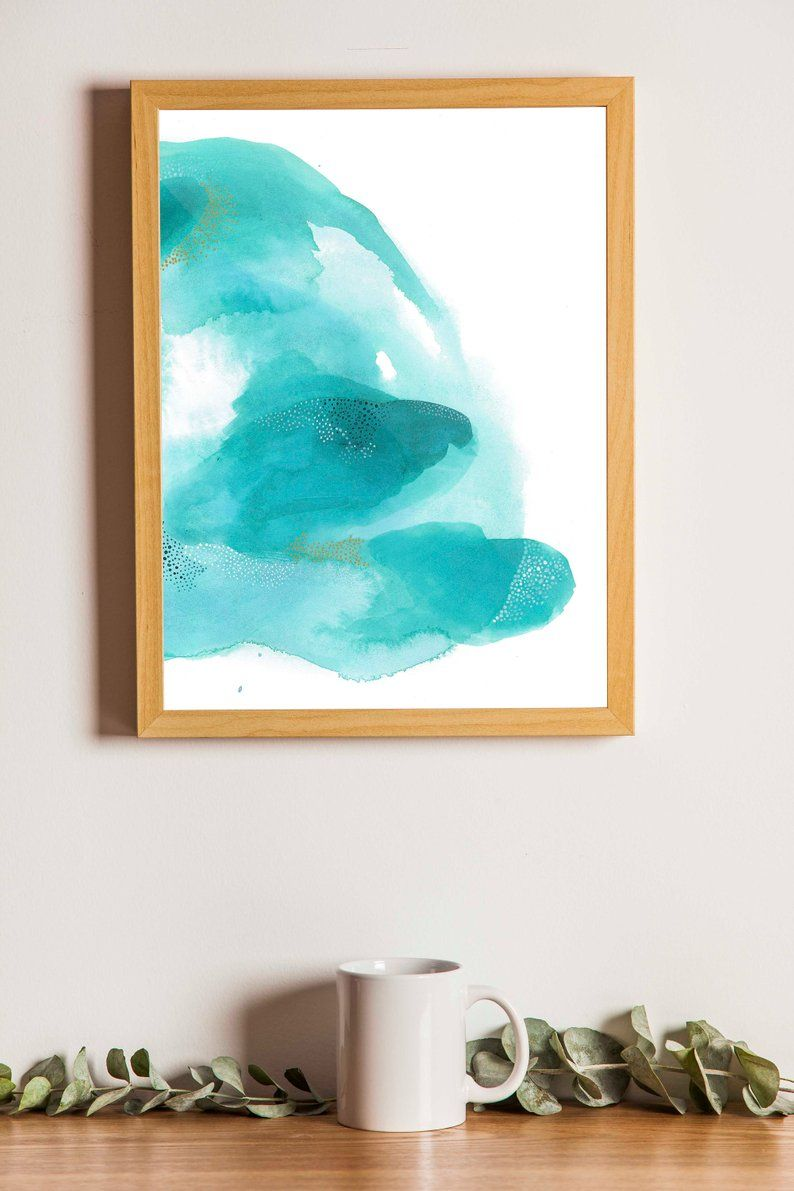Large Green Abstract Home Decor Large Artwork Minimalist Decor