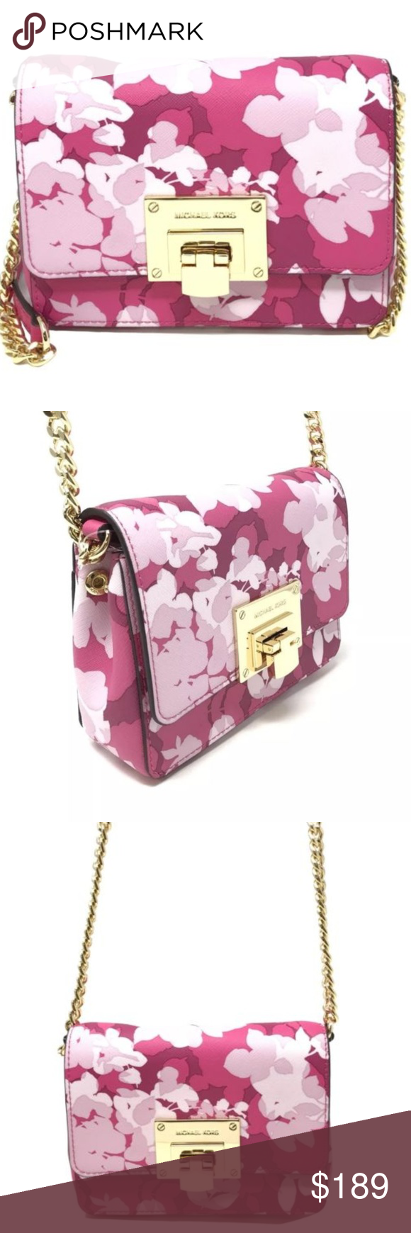 18e872f1d9a5 Small Pink Floral Clutch Crossbody by MK This adorable clutch crossbody