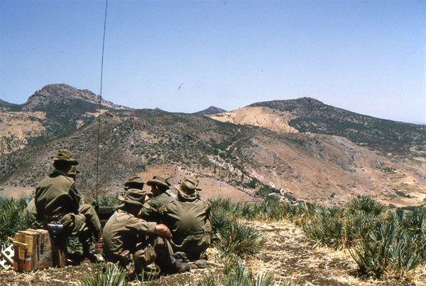 SOUK-ARRAS - Surveillance de la frontière Tunisienne, Algerian war, pin by Paolo Marzioli