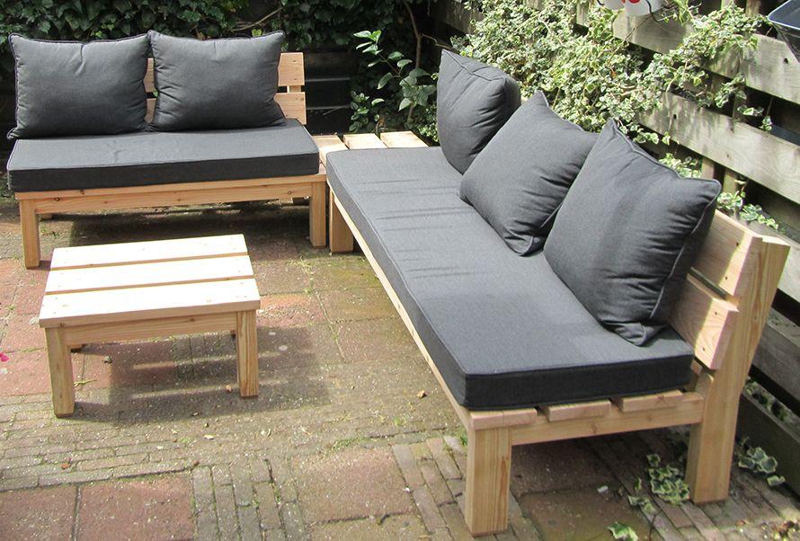 Loungebank tuin google zoeken tuinideen clienten for Lounge kussens