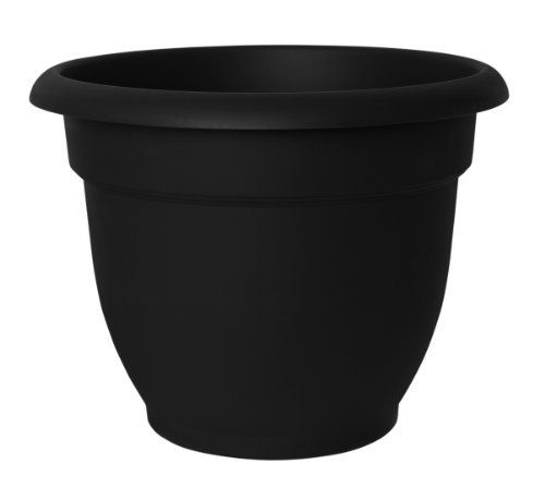 Fiskars 20 56908 8 Inch Ariana With Self Watering Disk Black By Fiskars 9 38 100 Percent Recyclable Bel Self Watering Planter Resin Planters Self Watering