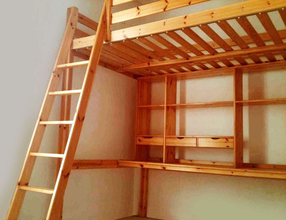 Ikea Stora Pine Double Loft Bed With