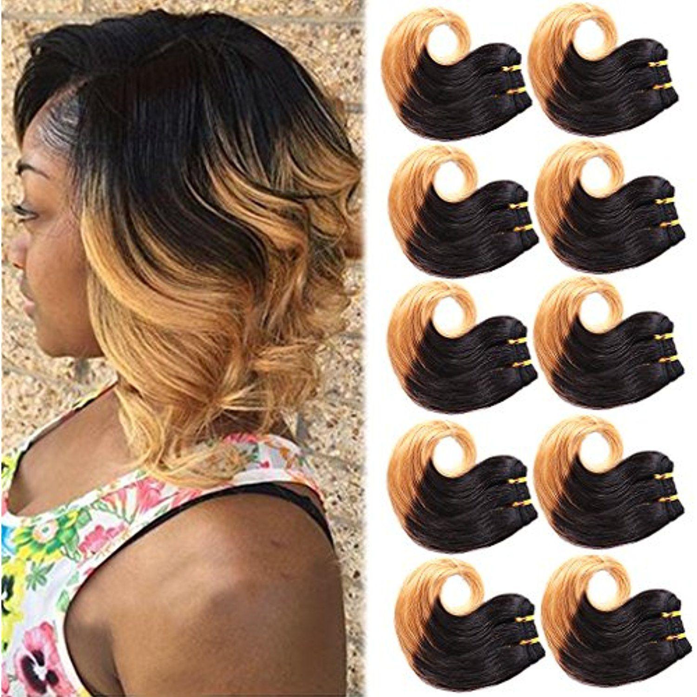 B Fashion Unprocessed Virgin Brazilian Ombre Human Hair Extensions
