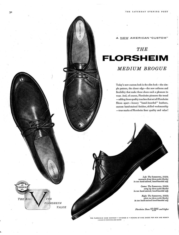 Amazon Com 1957 Florsheim Mens Shoes Sorrento Medium Brogue
