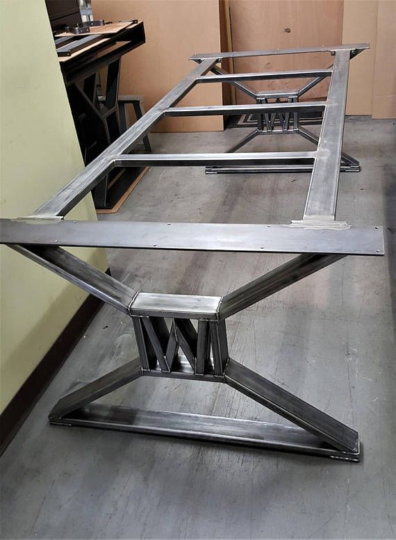 Modern Industrial Dining Table Legs With Builded Etsy