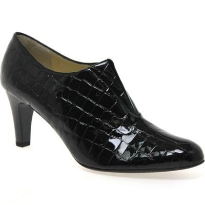 Peter Kaiser Black patent 'hawa' womens high cut court shoes- | Debenhams
