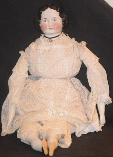 Antique Doll China Head A. W. FR Kister Gorgeous from oldeclectics on Ruby Lane