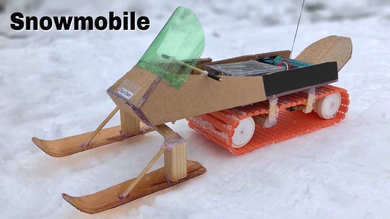 How To Make Rc Snowmobile At Home Amazing Remote Controlled Car