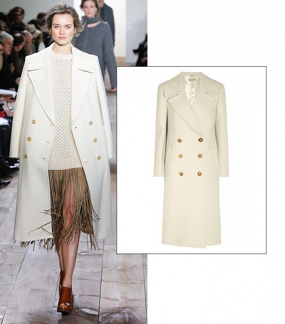 Double-Breasted Wool-Felt Coat by Michael Kors // #Shopping #SS15