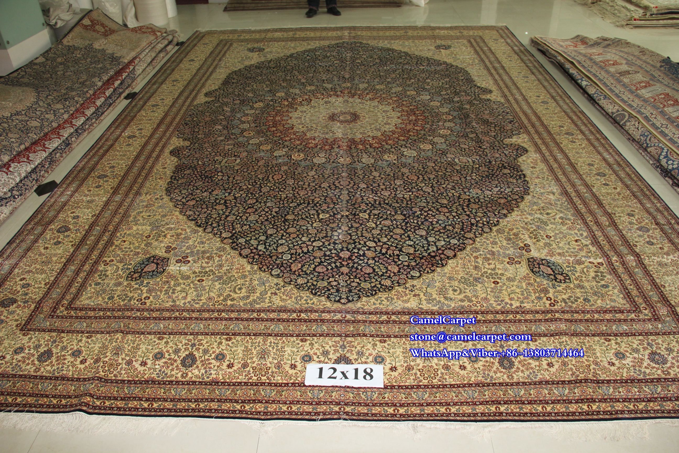 Size12x18ft Silk Carpet 100 Handmade Fine Quality Silk Carpet Carpet Handmade