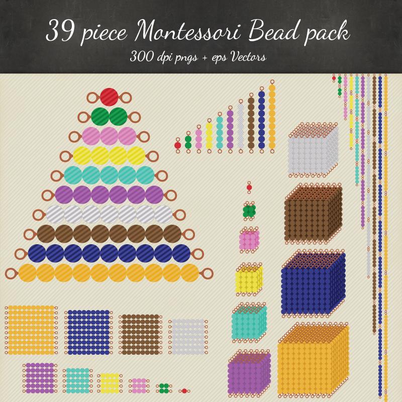 Montessori Beads Clipart Vector Printables Montessori
