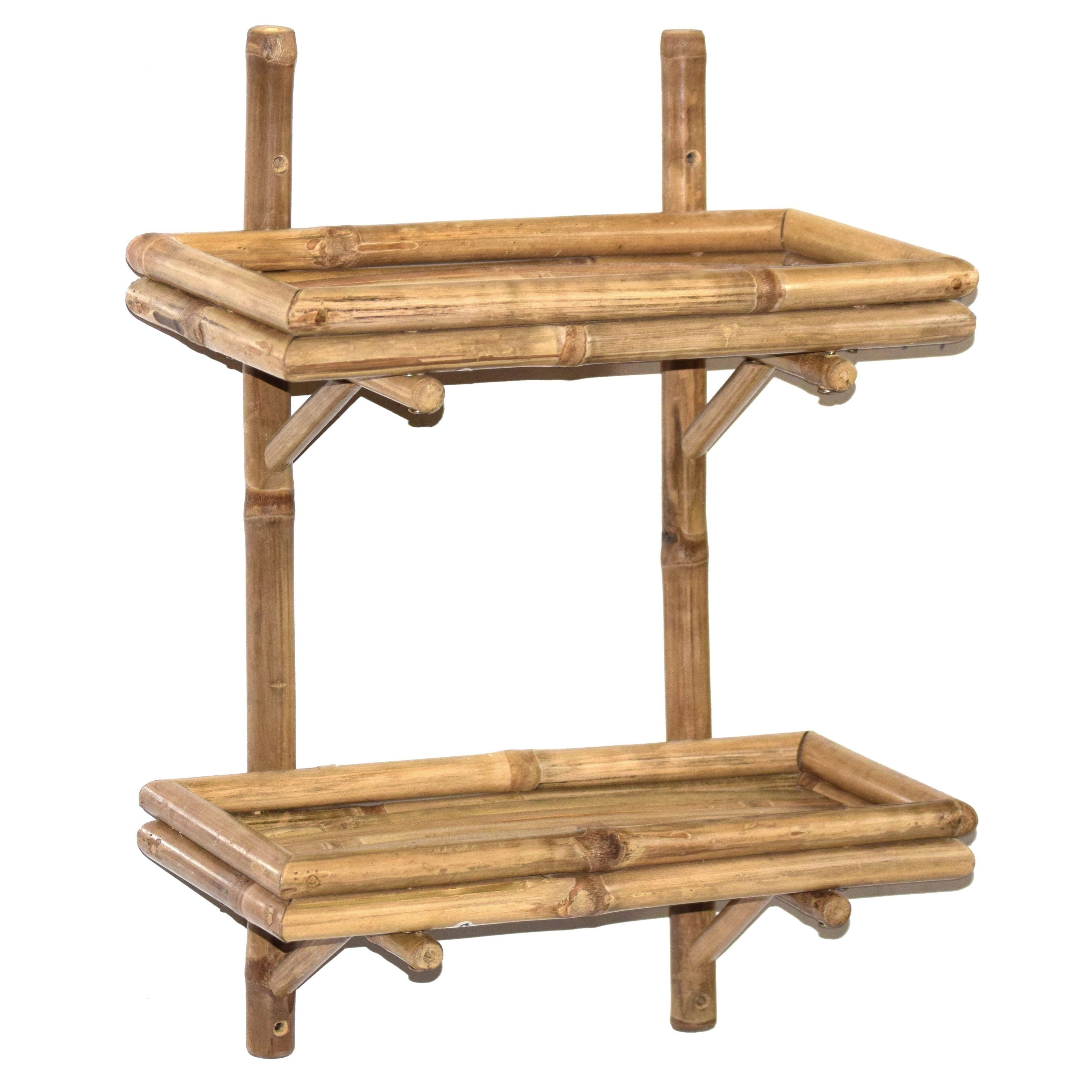 Handmade Bamboo (Green)54 Double Wall Bamboo Shelf (Vietnam) (double ...