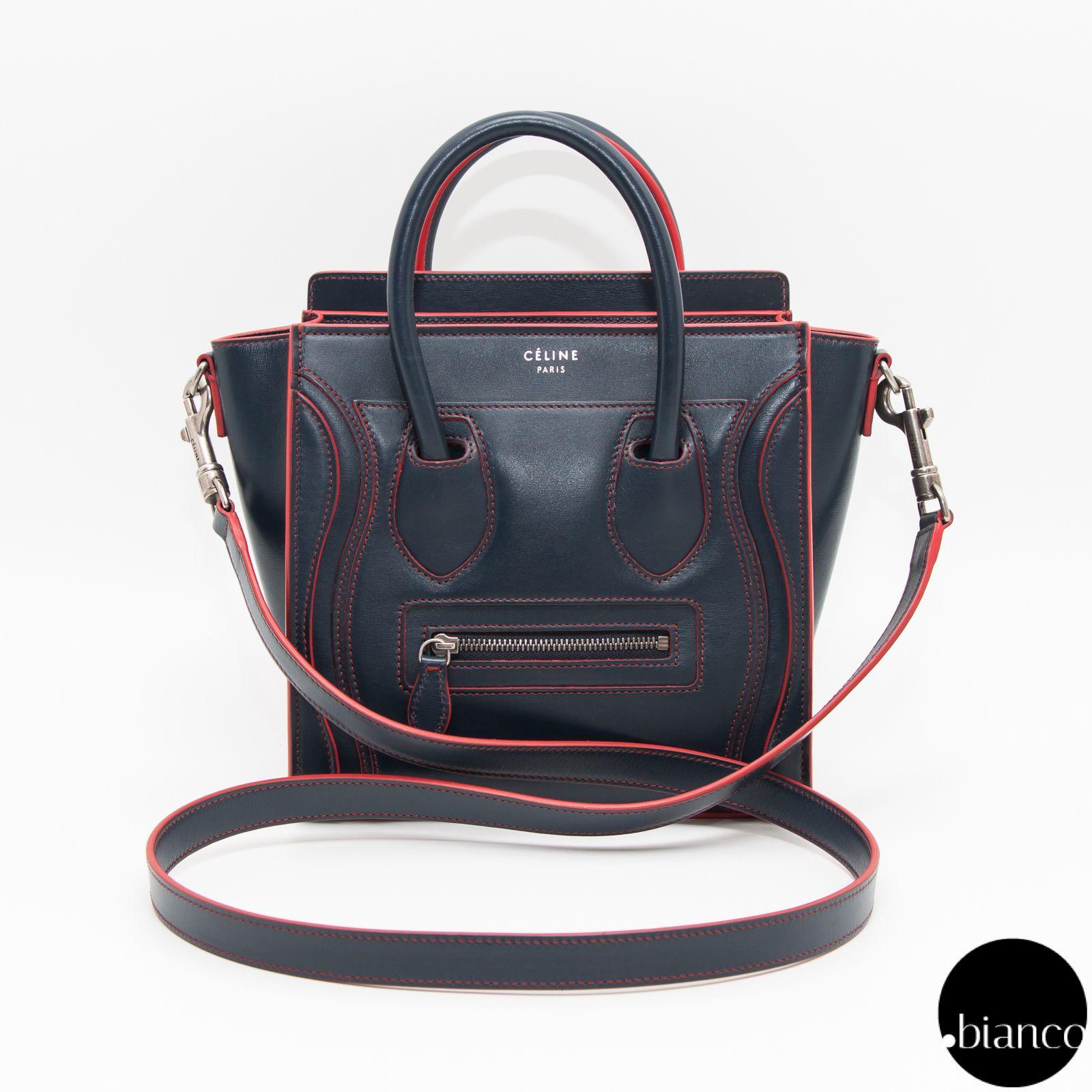 25f0a36057aa CELINE Shoulder Bags Calfskin 2WAY Bi-color Elegant Style Luxury Brand Bag