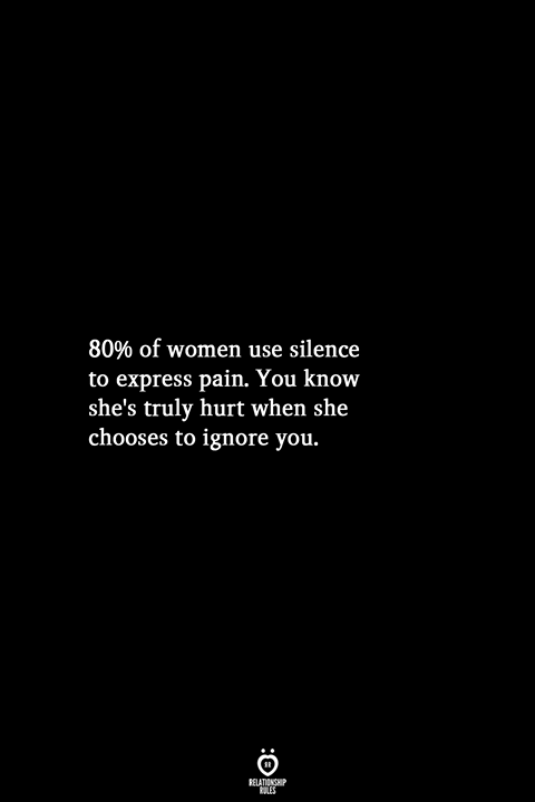 80% Of Women Use Silence To Express Pain
