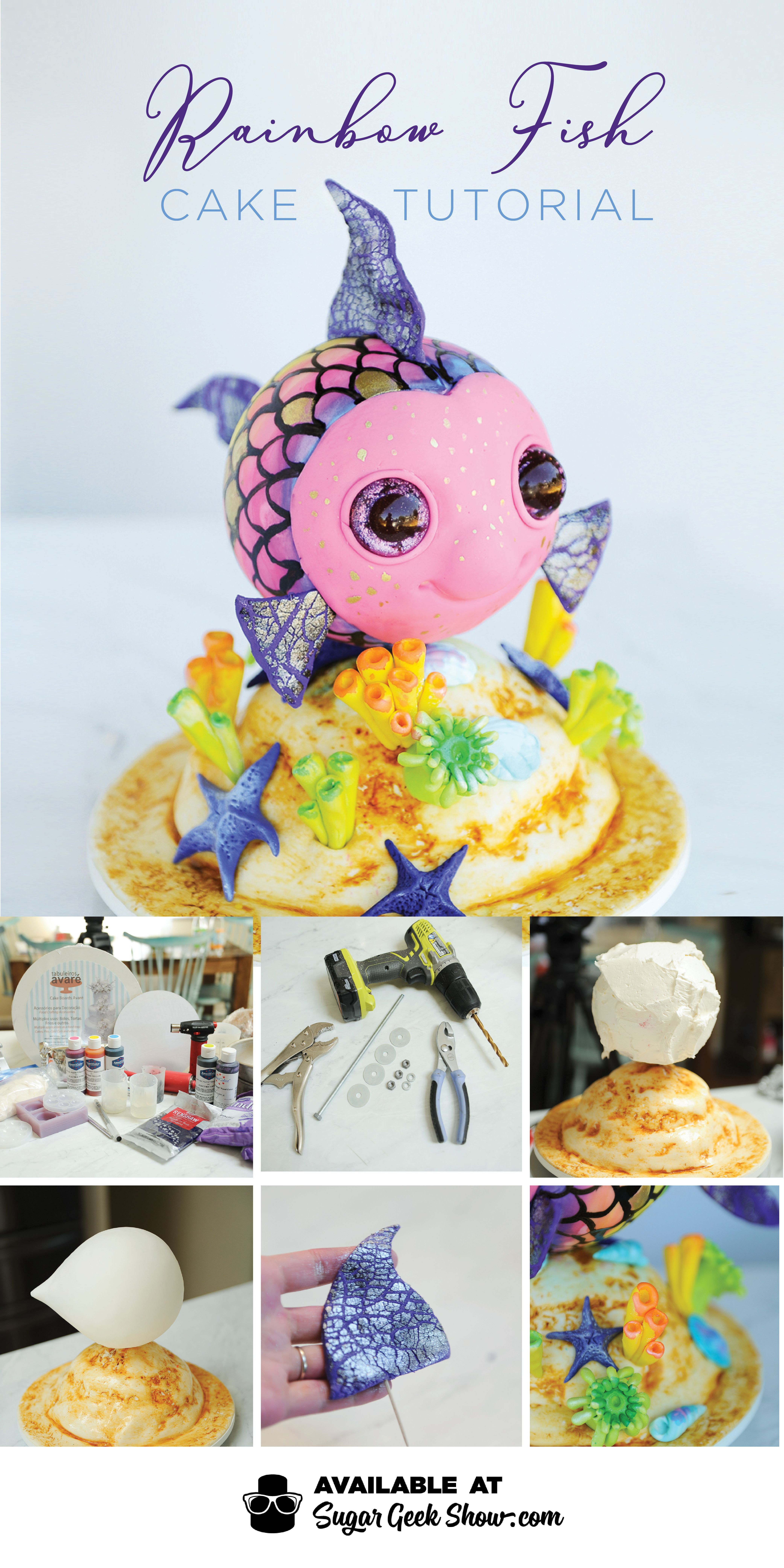 Rainbow Fish Cake Tutorial Video Instructions With Images