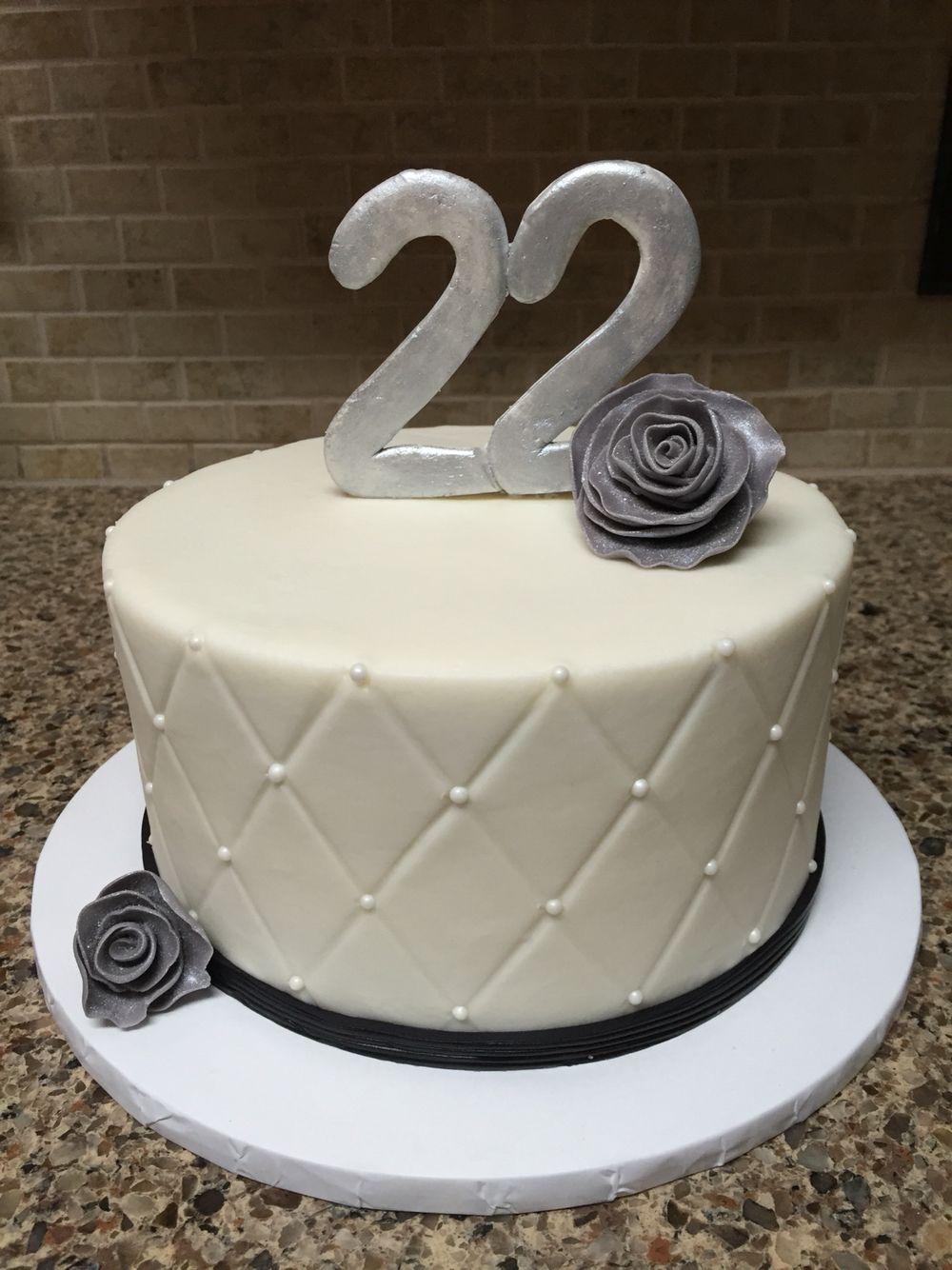22 Birthday Cake : birthday, Black, White, Birthday, 7-inch, Chocolate, Fudge, Covered, Quilted, Vanilla, Butterc…, Cakes,, Cakes