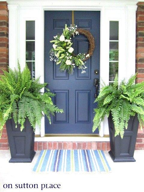 My blue front door = Sherwin Williams Naval.