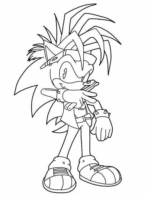 Sonic Manic Coloring Pages Dibujos Sonic Dibujos Pintar