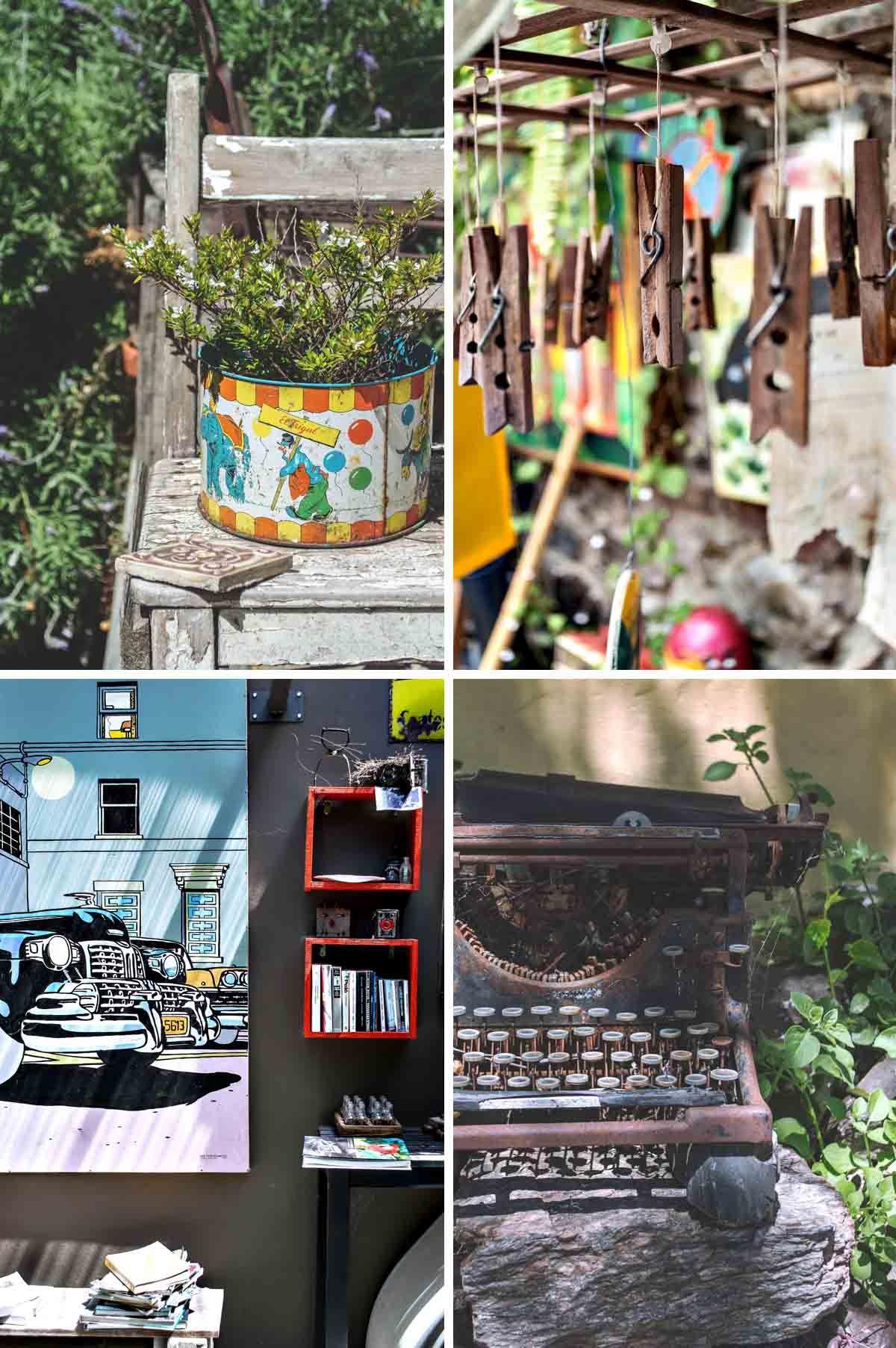Quirky touches everywhere you look at La Posadita de la Plaza, Colonia del Sacramento - Uruguay | heneedsfood.com