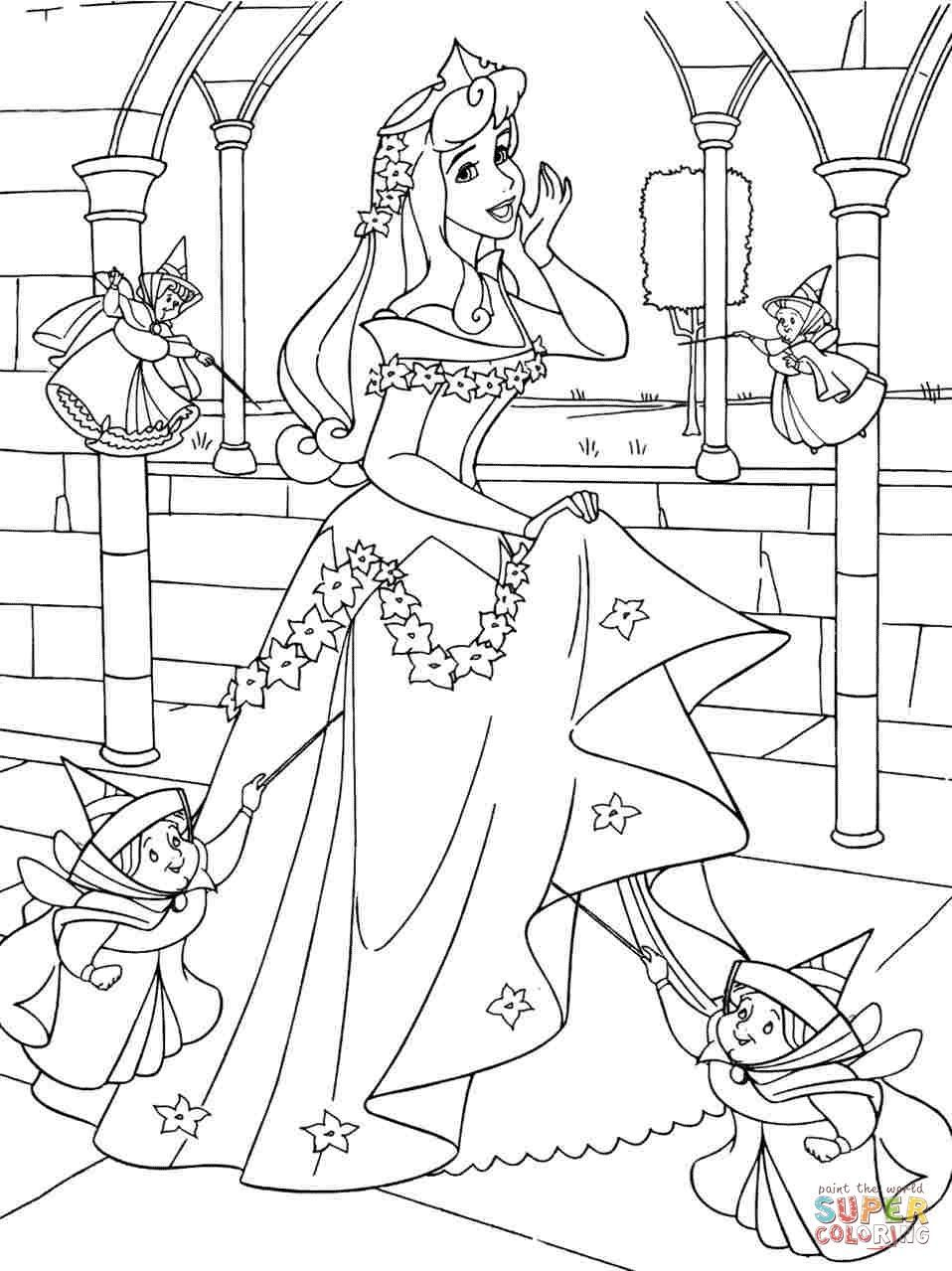 sleeping beauty coloring pages print disney princess sleeping beauty aurora colouring sheets free for