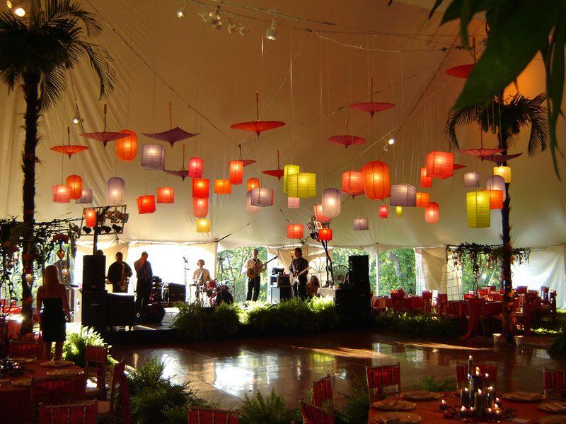 Wedding decoration ideas paper lanterns dance decorations and reception areas junglespirit Images