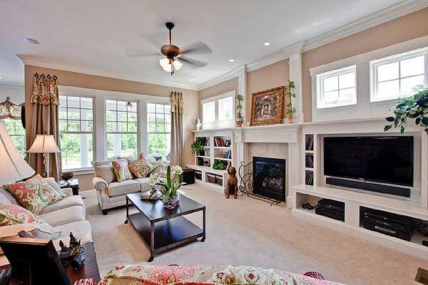 amazing award winning living room | Plan 30018RT: Award-Winning Farmhouse Plan | Farmhouse ...