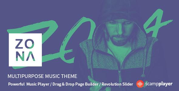 Zona - Multipurpose Music Theme Download @mywpthemes_xyz | Top 50 ...