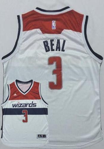842ca01dc2d6 Wizards  3 Bradley Beal New White Home Stitched NBA Jersey