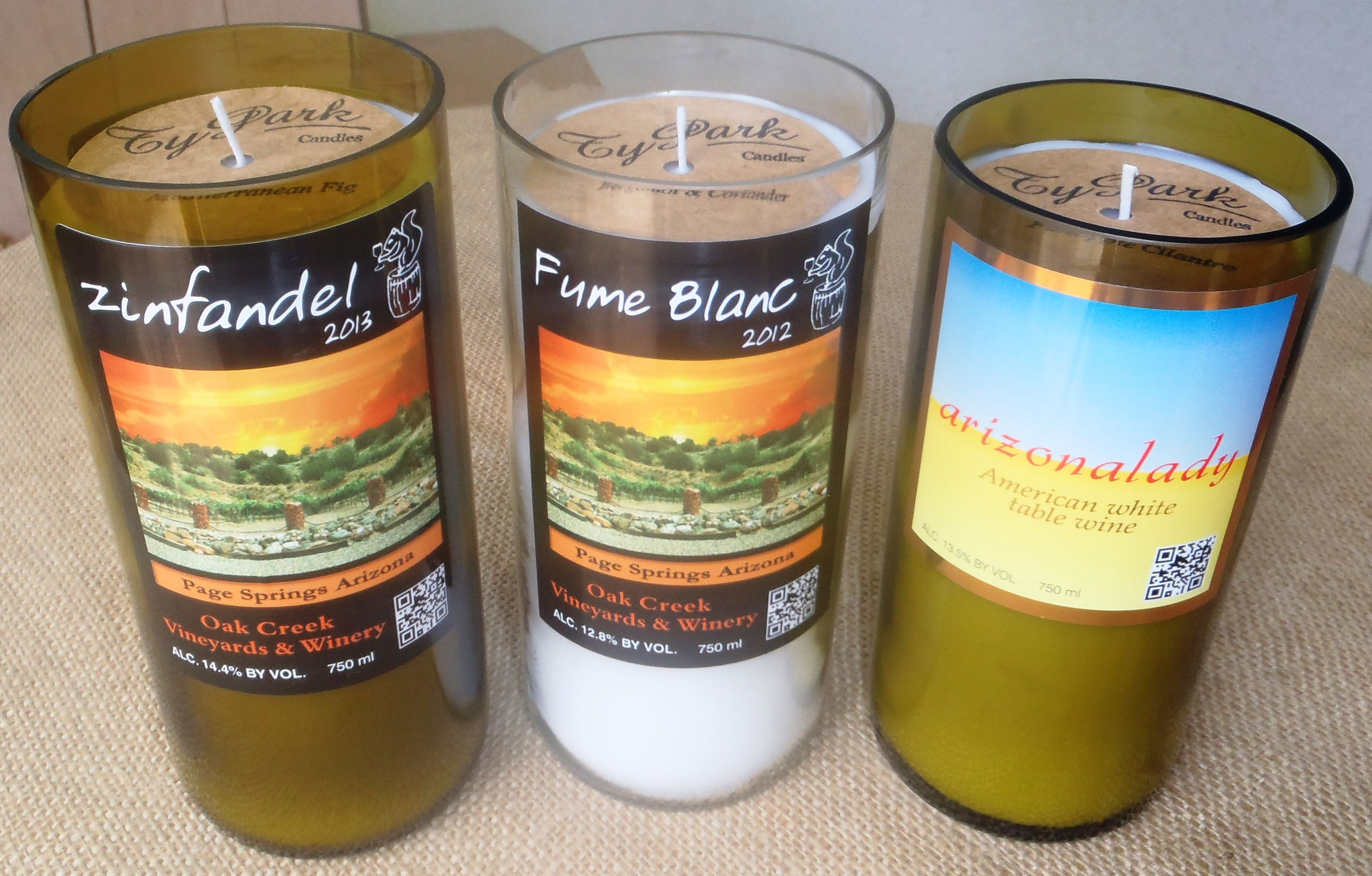 Authentic #Recycled #Wine #Bottle #Candles Now Available At @Oakcreekvineyards In