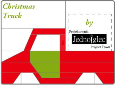 Free Paper Pieced Quilt Patterns Christmas.Freebie Christmas Truck Paper Piecing Pattern Paper