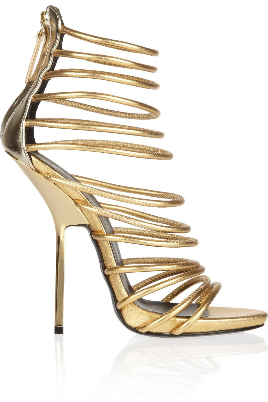 Fashion trend of Designer Gold High Heel Gladiator Sandals ...
