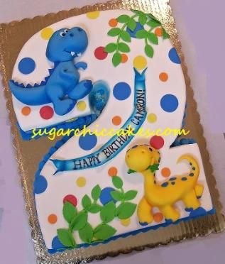 Walking With Dinosaurs Cake by Elizabeth Miles Cake Design