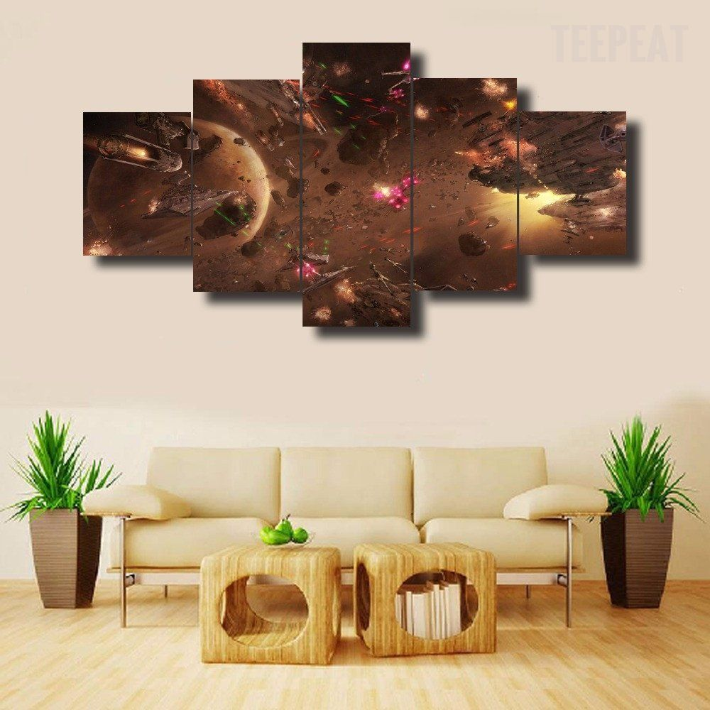 star wars battle v2 5 piece canvas painting canvases star bedrooms