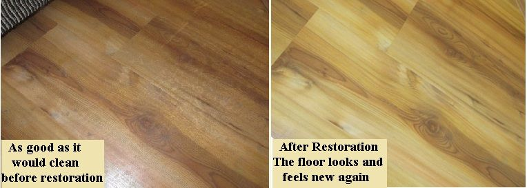 Laminate Floors Can Get A Thick Build Up Of Cleaning And